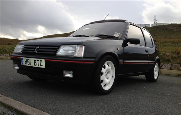 wheels of the week 1991 peugeot 205 gti 1 9 clickmechanic. Black Bedroom Furniture Sets. Home Design Ideas