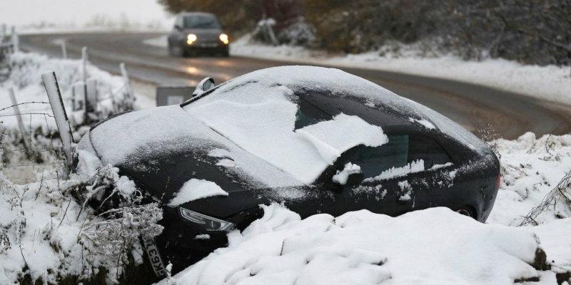 Crash in Snow