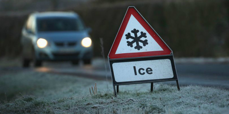 ice street sign