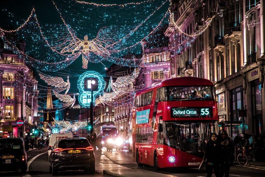 London city during christmas